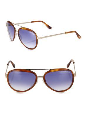 Tom Ford  58MM Gradient Aviator Sunglasses