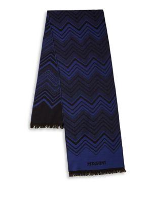 Missoni Stripe Zigzag Wool Scarf