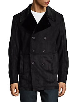 Calvin Klein - Faux Fur Double Breasted Jacket