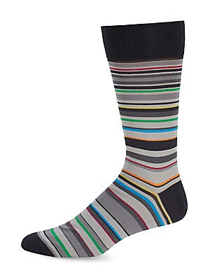 Multicolored Geometric Socks