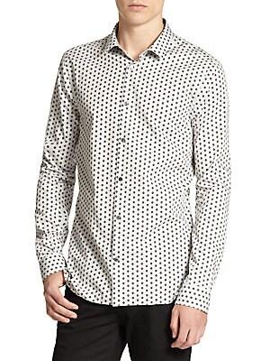 Pulbury Geometric Print Sportshirt