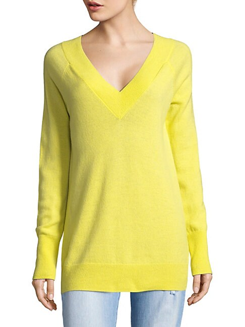 Double V-Neck Cashmere Sweater
