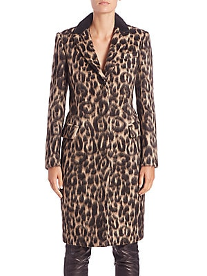 Croasdale Leopard-Print Coat