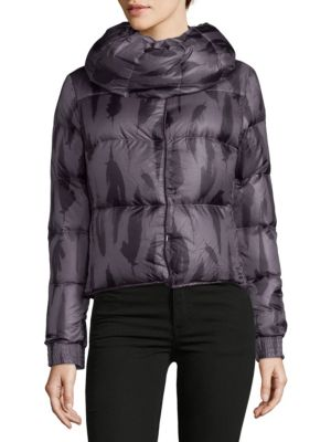 Helly Hansen 2-IN-1 DOWN-FILLED PRINTED JACKET AND INFINITY SCARF