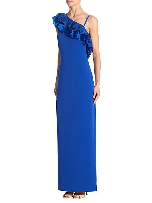 One-Shoulder Ruffled Dress