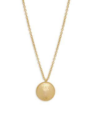 GURHAN Monarch 22K Disc Pendant Necklace in Gold