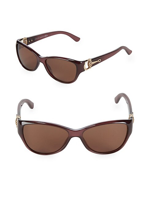 Tropical Cat-Eye Sunglasses
