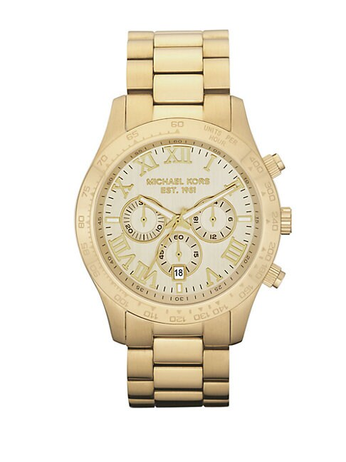 Gold Chronograph Watch