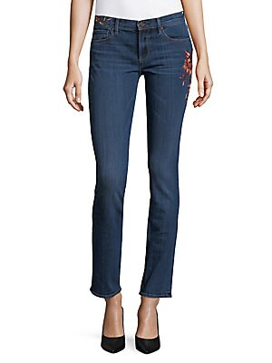 Audrey Floral Embroidered Jeans