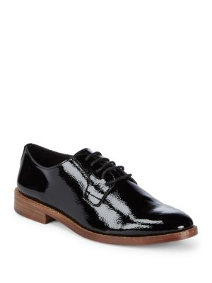 Loanna Leather Oxfords, Black