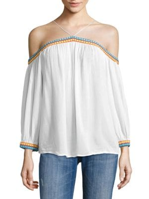 PIPER No Doubt Off-The-Shoulder Top in White