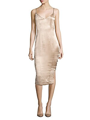 Tarin Metallic Slip Dress