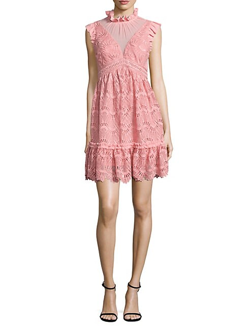 Three Floor SHORE THING CUTOUT LACE DRESS