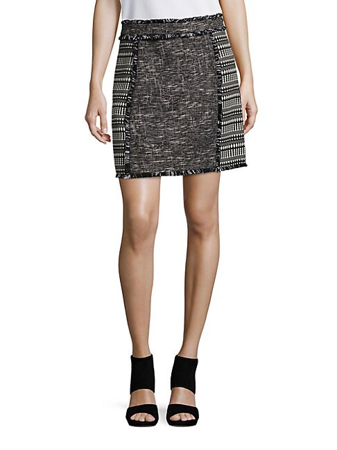 Pixel Mix Tweed Skirt