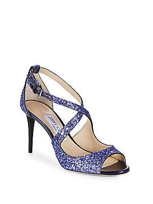 Emily Glitter Strappy Dress Heels