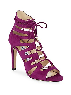 Hitch Suede Lace-Up Sandals