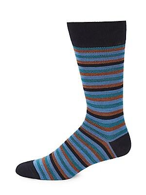 Wool Oxford Stripe Socks