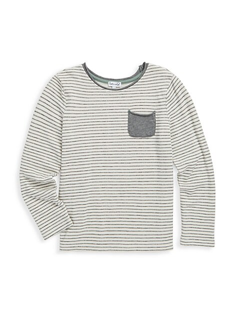 LITTLE GIRL'S STRIPE PRINT TEE