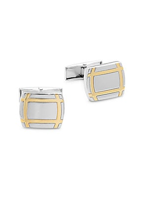 Hickey Freeman  Two-Tone Cuff Links