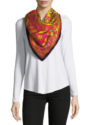 Saks Fifth Avenue  Medallion-Print Silk Foulard