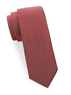 Saks Fifth Avenue Made in Italy - Square Silk Tie