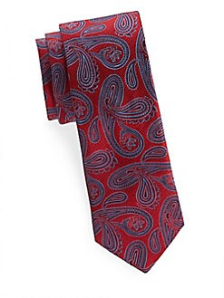 Saks Fifth Avenue Made in Italy - Patterned Silk Tie