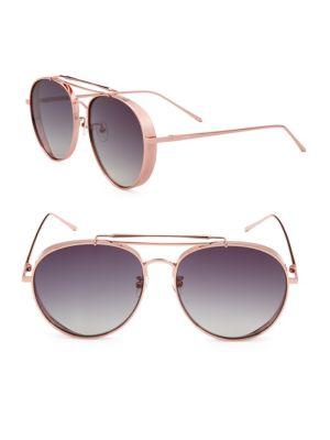 Aqs Gradient 59MM Aviator Sunglasses
