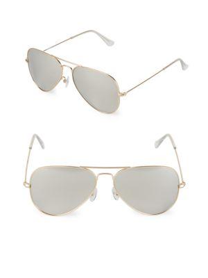 Aqs 58MM Aviator Sunglasses