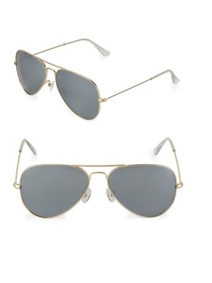 Aqs Tinted 58MM Aviator Sunglasses