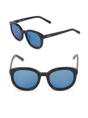 Aqs 51MM Round Sunglasses