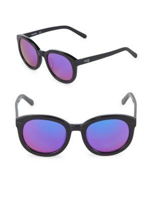Aqs Mirrored 51MM Round Sunglasses