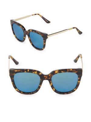 Aqs Graphic 55MM Square Sunglasses
