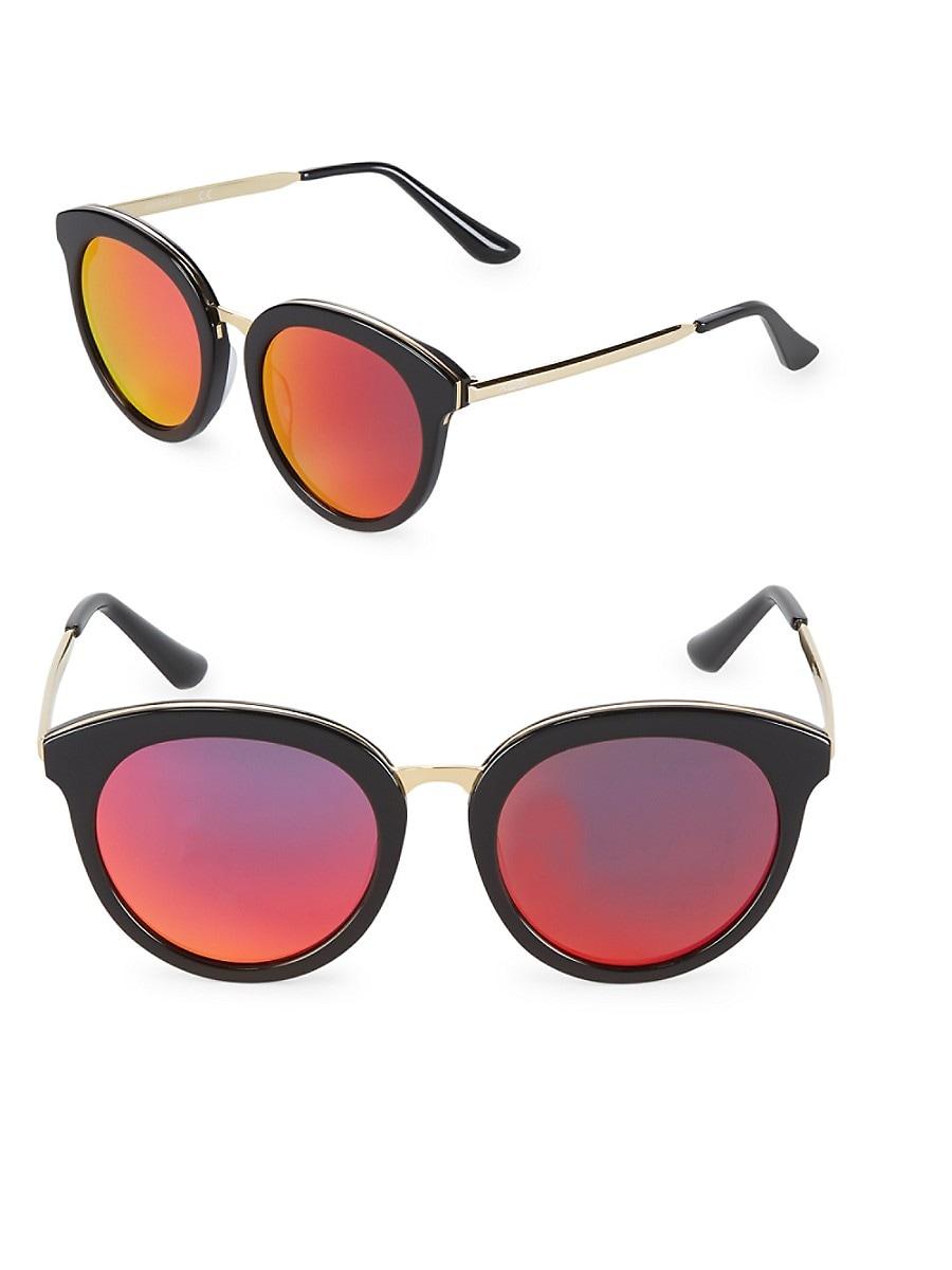 Women's Mirrored 54MM Oval Sunglasses