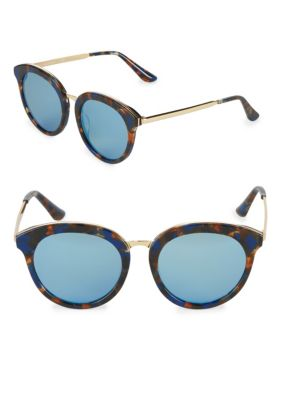 Aqs Tinted 54MM Oval Sunglasses