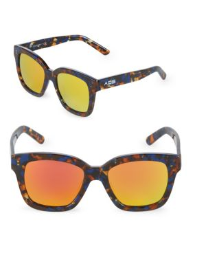 Aqs Mirrored 52MM Square Sunglasses