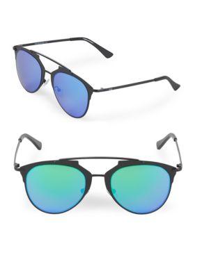 Aqs Mirrored 52MM Aviator Sunglasses