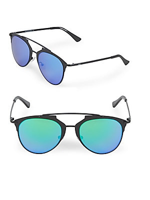 Mirrored 52MM Aviator Sunglasses