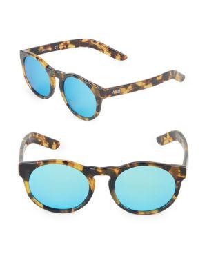 Aqs 49MM Clubmaster Sunglasses