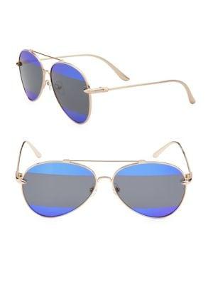 Aqs Gradient 60MM Aviator Sunglasses