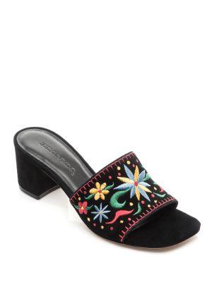 BERNARDO Bailey Suede Sandals in Black