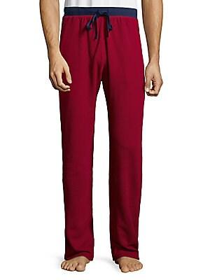 Contrast Waistband Cotton Pants