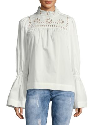 Free People  Another Eternity Bell-Sleeve Cotton Top