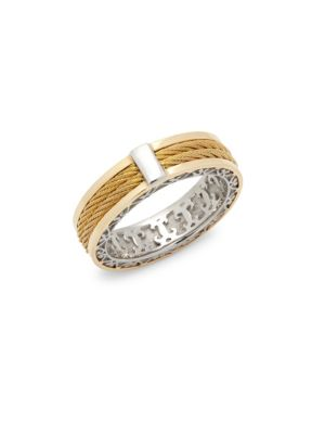 Alor  18K Yellow Gold Cable Stainless Steel Ring