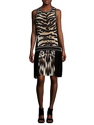 Animal Print Knee-Length Dress