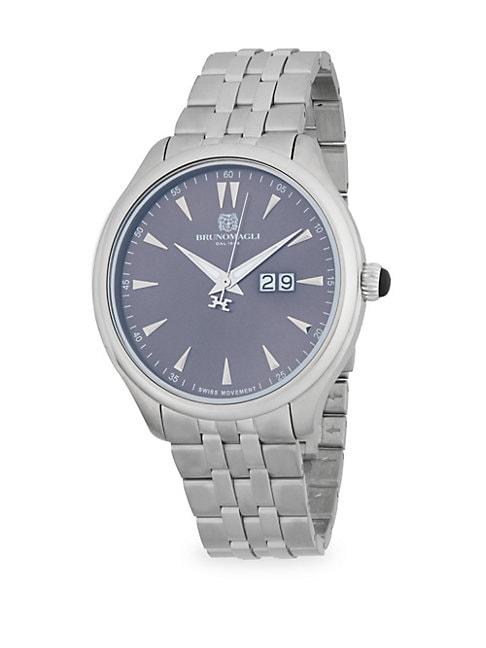BRUNO MAGLI | Stainless Steel Bracelet Watch | Goxip