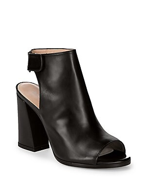 6810a5e9220f Stuart Weitzman - Front Room Leather Backless Open Toe Ankle Boots -  saksoff5th.com
