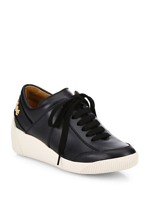 Duncan Leather Wedge Sneakers