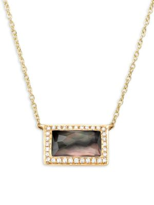 Ippolita  ROCK CANDY DIAMOND, BLACK SHELL DOUBLET AND 18K GREEN GOLD PENDANT NECKLACE