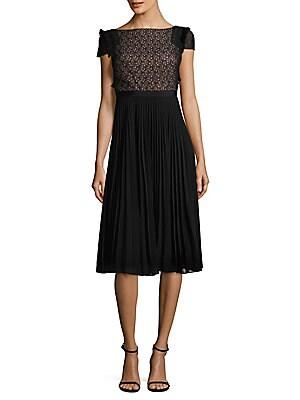 Luella Pleated Midi Dress