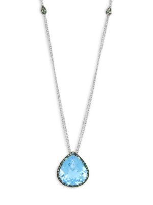 Roberto Coin  Garnet, Topaz and 18K White Gold Pendant Necklace